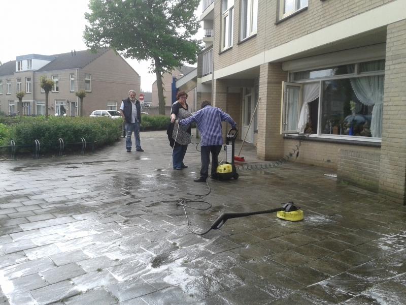 stoep schoonmaken